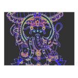 Diosa del elefante de Ganesha Postales