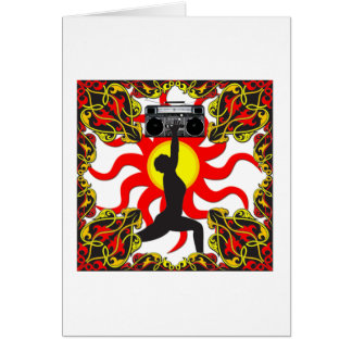 Diosa del equipo estéreo portátil tarjeta de felicitación