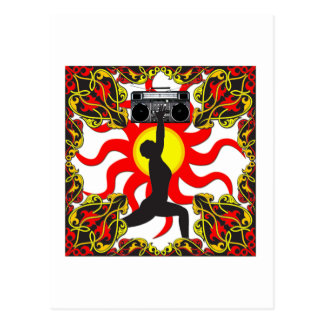 Diosa del equipo estéreo portátil tarjeta postal