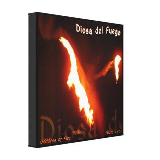 Diosa del Fuego ~ Goddess of Fire Canvas Print