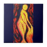 Diosa del fuego tejas  ceramicas