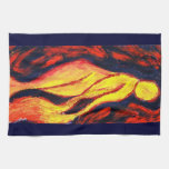 Diosa del fuego toallas de mano