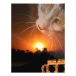 Diosa del gato de Egpytian Membrete A Diseño