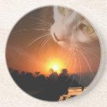 Diosa del gato de Egpytian Posavasos Personalizados