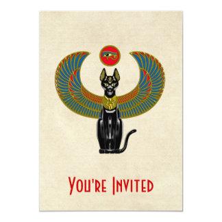 """Diosa del gato egipcio invitación 5"""" x 7"""""""
