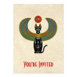 Diosa del gato egipcio invitación personalizada