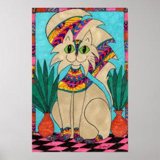 Diosa del gato póster