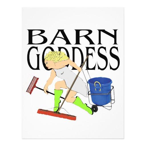 Diosa del granero tarjetas informativas