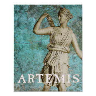 Diosa del Griego de Artemis Póster