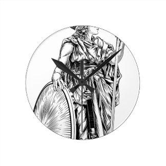 Diosa del Griego de Athena Reloj Redondo Mediano