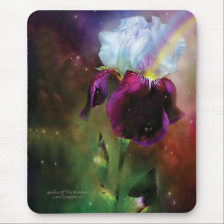 Diosa del iris Mousepad del arco iris