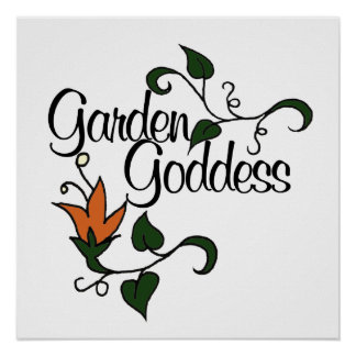 Diosa del jardín póster