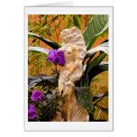Diosa del jardín… tarjeta de felicitación