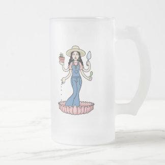 Diosa del jardín taza de cristal