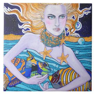 Diosa del mar tejas  cerámicas