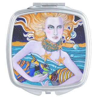 Diosa del mar espejo de maquillaje