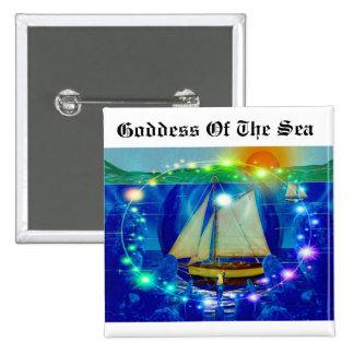 Diosa del mar pin cuadrado