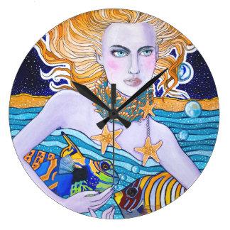 Diosa del mar relojes de pared