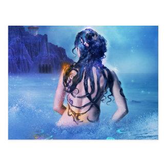 Diosa del mar y de la postal de la noche
