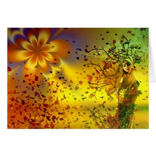 Diosa del otoño - tarjeta de Greeetimgs