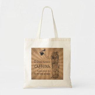 Diosa del regalo divertido del café del cafeína bolsa tela barata