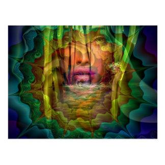 Diosa del río postales