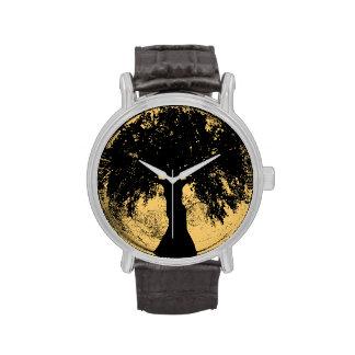 Diosa del roble de la luna de Glowees Reloj De Mano