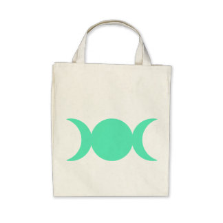 Diosa del triple del verde de mar bolsa de mano