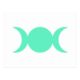 Diosa del triple del verde de mar tarjeta postal