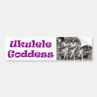 Diosa del Ukulele Etiqueta De Parachoque
