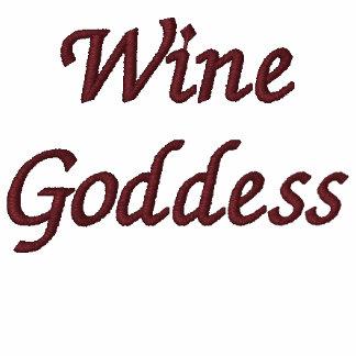 Diosa del vino sudadera bordada con serigrafía