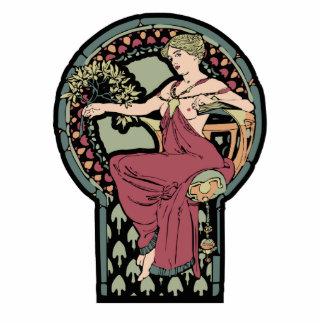Diosa del vintage de Nouveau Mucha Esculturas Fotográficas