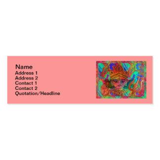 """Diosa Durga2 3"""" flaco"""" tarjeta de visita x1"""