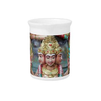 Diosa Durga con el templo hindú de tres cabezas Jarra De Beber
