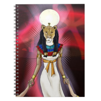 Diosa egipcia antigua Sekhmet Libretas Espirales