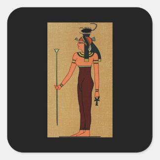 Diosa egipcia antigua Serqet Pegatina Cuadrada