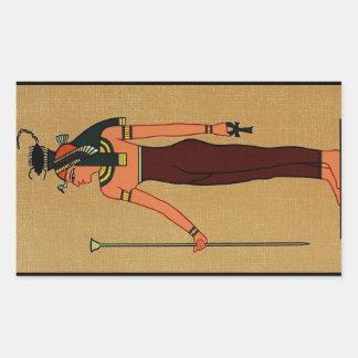 Diosa egipcia antigua Serqet Pegatina Rectangular
