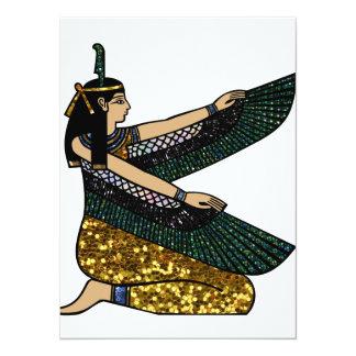 """diosa egipcia invitación 5.5"""" x 7.5"""""""