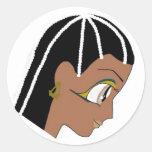 Diosa egipcia pegatina redonda