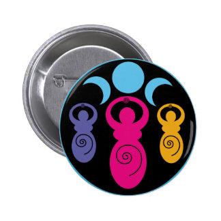 Diosa espiral triple pins
