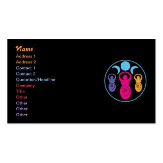 Diosa espiral triple tarjeta personal