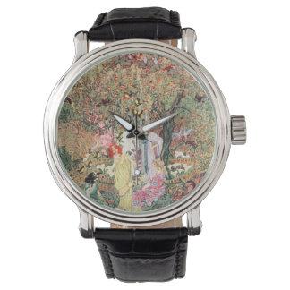 Diosa floral del vintage relojes de pulsera