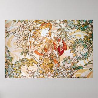Diosa floral póster