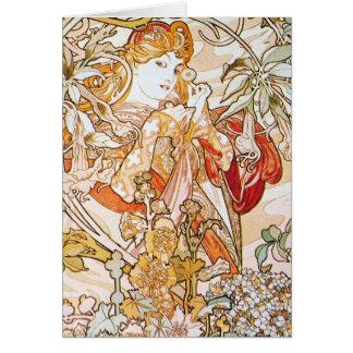 Diosa floral tarjeton