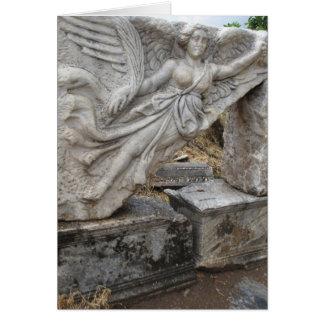 Diosa griega Nike en Ephesus, Turquía Tarjeta De Felicitación