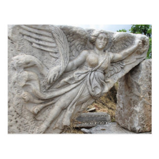 Diosa griega Nike en Ephesus, Turquía Tarjetas Postales