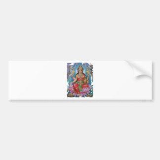 Diosa hindú de madres del día de las ideas felices etiqueta de parachoque