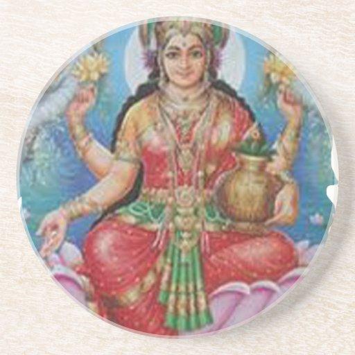 Diosa hindú de madres del día de las ideas felices posavasos manualidades