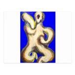 Diosa hindú del baile abstracto postal