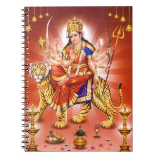 Diosa hindú Durga Cuaderno